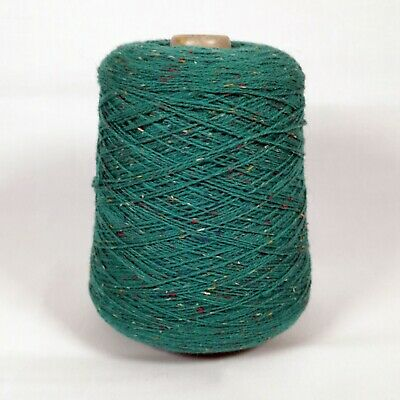 Machine Knitting Yarn Cone - Turquoise / Green Fine Fleck Blend | 2 ply | 375g