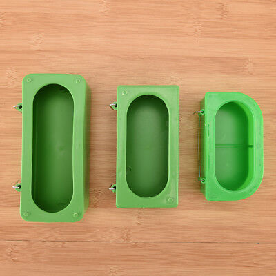 Plastic Green Food Water Bowl Cups Parrot Bird Pigeons Cage Cup Feeder Feedin GK