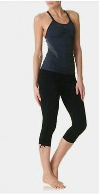 Sweaty Betty Vinyasa Yoga Leggings Capris  XS Black EB791-B7