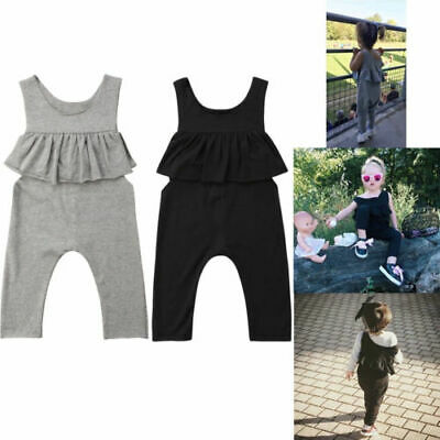 Sleeveless Ruffle Baby Kids Girl Rompers Summer Toddler Children Jumpsuit Outfit