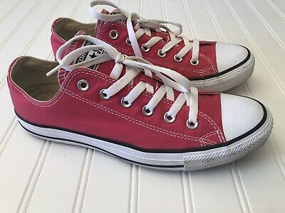 b3a68b38730c Converse All Star Classic Low Top Pink Sneakers Shoes Womens Size 10 Mens  Size 8