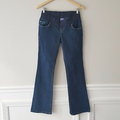 468e3a092c32e Old Navy Maternity Size 2 Regular Dark Wash Low Rise Panel Boot-Cut Jean