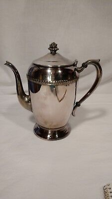 Vintage F.B. Rogers 1883 Silver Co. Tea or Coffee Pot, Silver Plate, Rose Top