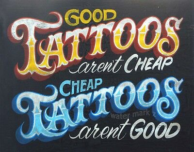 Tattoo Shop Policy Print vintage  style  ink flash carolina usa decor parlor