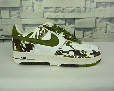 NIKE AIR FORCE 1 One Camouflage Sneakers Baskets 8.5 Us 42