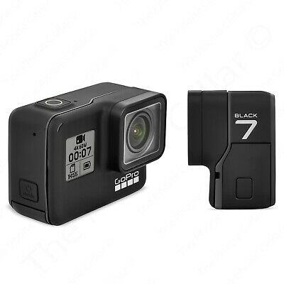 Cracked LCD GoPro HERO7 Black 12 MP Waterproof 4K Action Camera CHDHX-701