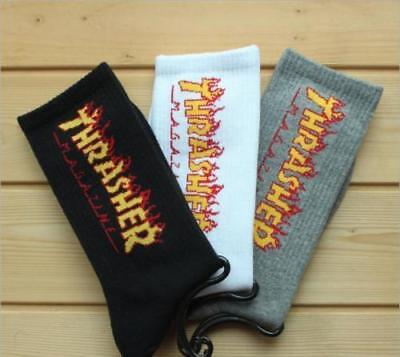 New Socks Fashion THRASHER Socks Men Women Summer Style Hemp Harajuku Socks