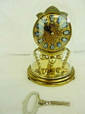 "Lovely Vintage Kundo 400 Day Domed Anniversary Clock, 7"", With Key, Working #wo#"