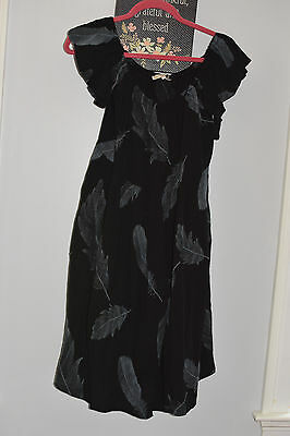 bb5c774c6d7f Urban outfitters LITTLE WHITE LIES black feather embroidered babydoll dress  S