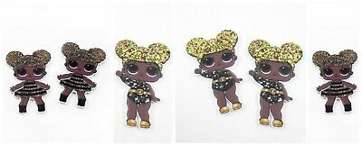 5 New Lol Surprise Dolls Queen Bee Flat Back Planar Resins Cabochons 4 Hair Bows