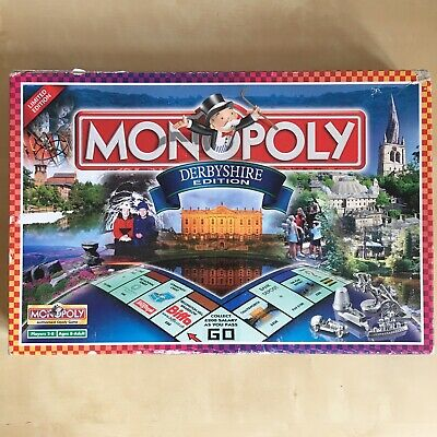 Derbyshire Monopoly Family Board Game Derby Collectors Complete