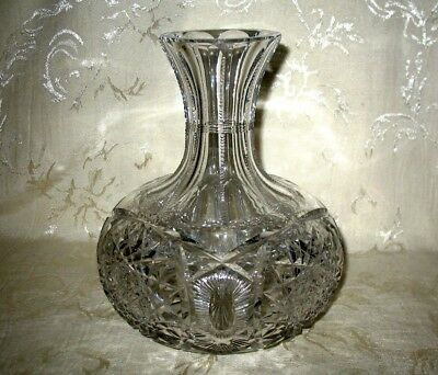 American Brilliant Cut Glass Crystal Decanter, Wine Carafe, just Breathtaking!!!