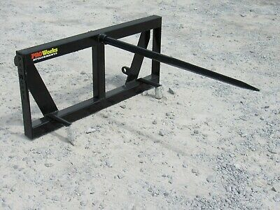 Global Quicke Euro Loader Attachment - Low Back Round Hay Bale Spear - Ship $179