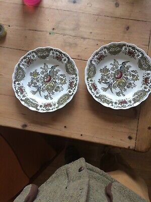 Pair Of Ridgway Vintage China Windsor Soup Bowls Stunning Condition