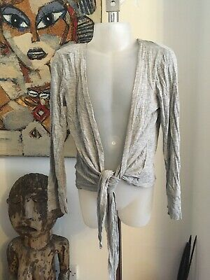 Marks & Spencer Girls Grey Cardigan Age 9 Years Good Condition