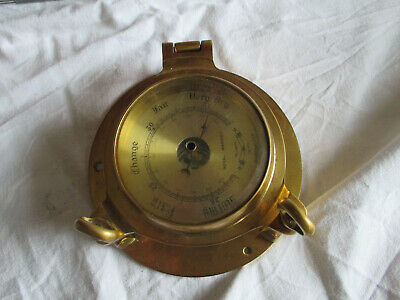 Barometer Royal Mariner Messing Marine Bullauge Wetter