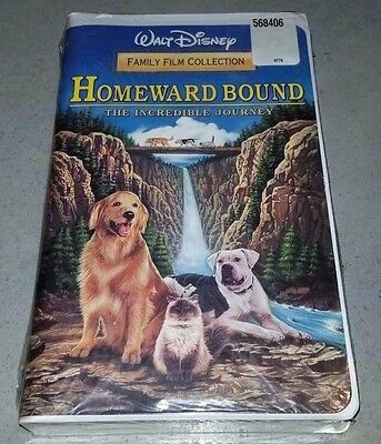 NEW Homeward Bound The Incredible Journey (VHS 1993) SEALED Clamshell Disney