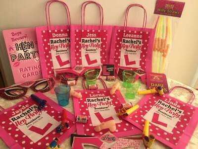 Hen Party Bag *Filled* Personalised Gift Bags Favour Accessories
