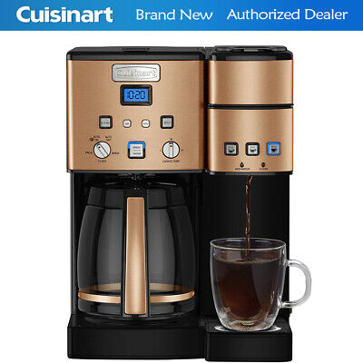 Cuisinart 12 Cup Coffeemaker and Single Serve Brewer w/ 3 Year Warranty | Copper