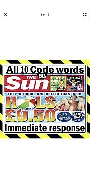 Sun Holidays Booking Codes £9.50 ALL 8 Codes INSTANT DELIVERY