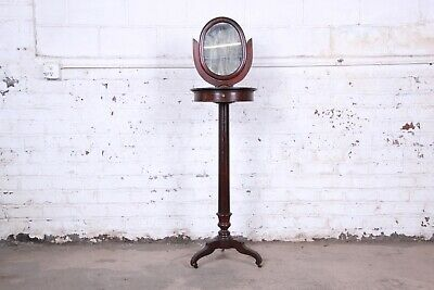 19th Century Victorian Mahogany and Marble Mirrored Shaving Stand
