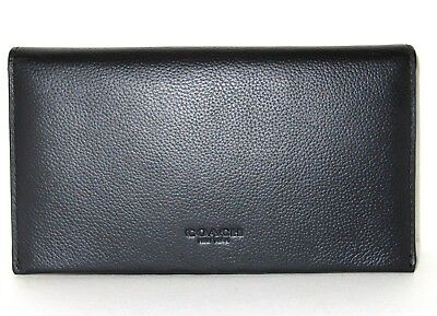 Coach Men's F32624 Cell Phone Case Wallet Black Sport Calf Leather NWT $150