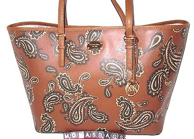 83df931c9a74 Michael Kors Jet Set Large Travel Carryall Tote Bag Paisley Luggage NWT $348