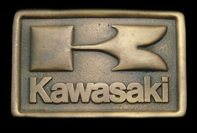 Rg24114 *Nos* Vintage 1976 Indiana Metal Craft **Kawasaki** Motorcycles Buckle