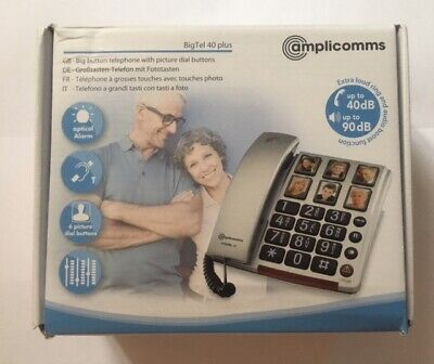 Telephone Big picture dial extra loud phone with  amplicomms bigtel 40 plus