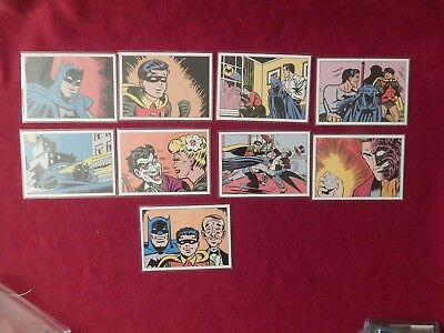 Rare Set BG1-9 Batman Archives Retro 1940 Trading Cards Rittenhouse 2008