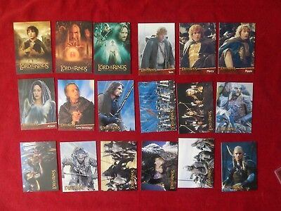 3X Sets Of Lord Of The Rings Two Towers Promo Trading Cards Including Prismatic