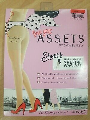 b6ea5c34b1e NEW Love Your Assets by Sara Blakely Hi-Waist Shaping Pantyhose Size 1 Black