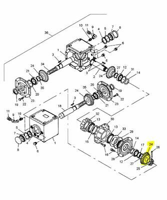 OEM New Holland 86559218 SWIVEL GEARBOX GEAR for Discbines