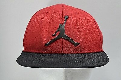 premium selection c0d0a d1981 Nike Air Jordan Jumpman Youth Black and Red Snapback Hat Cap