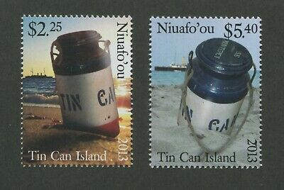 2013 Tonga Niuafo'ou Tin Can Mail Postage Stamps #294-295 Mint Never Hinged Set