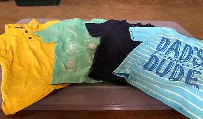 lot of4 boys tops-Gymboree polo 3t-carters tee 3T-CP TEE 3T-Gymboree tee 2T VGUC