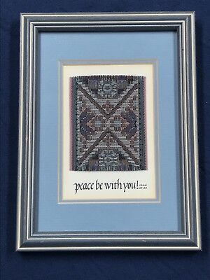 PEACE BE WITH YOU Needlework ISIDORE LIMITED Numbered Framed Double Matted Glass