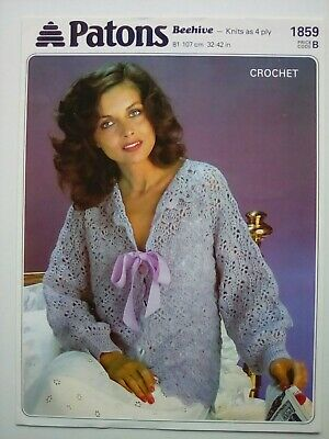 Patons - Ladies Lacy Bed Jacket - Vintage Crochet Pattern