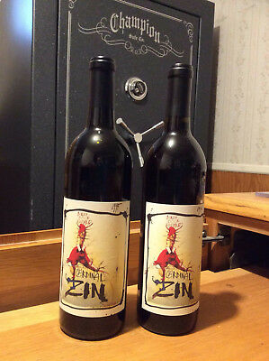 Ralph Steadman Wine Labels:  CARDINAL ZIN, 1995 & 1996 (empty bottles)