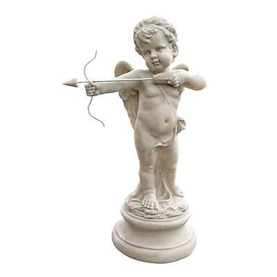 "22"" Cupid with Bow and Arrow Garden Statue Sculpture Replica Reproduction"