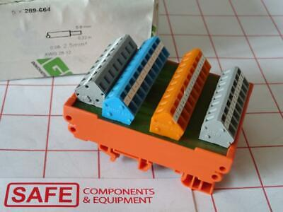 WAGO 289-664 Connection Junction Module 8-Sensor 3-Cond AWG 28-12 DIN-Rail G34
