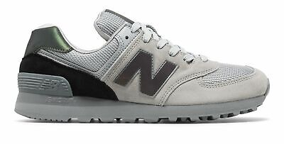New Balance Men's 574 Shoes Grey With Black