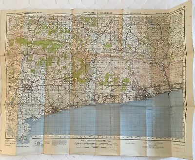 Map of CHICHESTER & WORTHING 1940 Ordance Survey SHEET 133