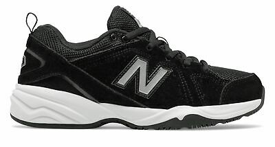 New Balance Boys Big Kid's 624 Athletic Sneaker Shoes Black With White