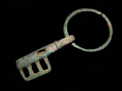 Fabulous Byzantine Period Rare Bronze Key In Two Movable Parts+++