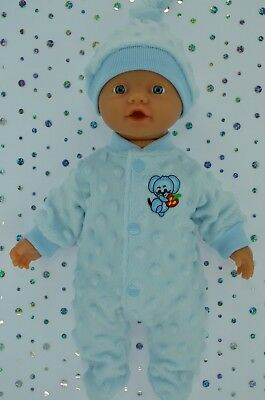 """Play n Wear Doll Clothes For 13"""" Little Baby Born BLUE STRETCH AND GROW~HAT"""
