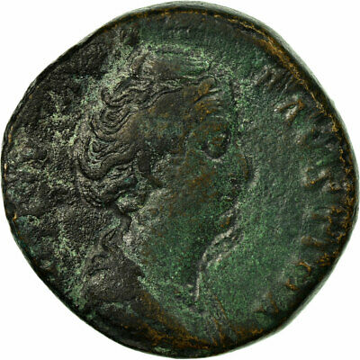[#514060] Coin, Diva Faustina I, Sestertius, After 141 AD, Rome, VF(20-25)