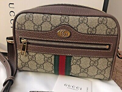 871efbf92 ... Gucci Ophidia GG Supreme Mini Crossbody Shoulder Bag Beige Brown EUC  Authentic 2