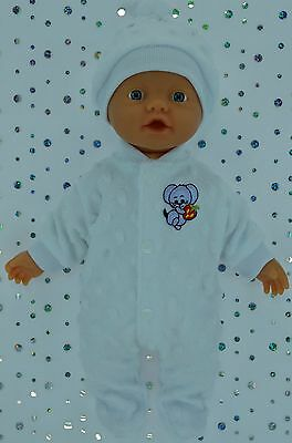 """Play n Wear Doll Clothes For 13"""" Little Baby Born WHITE STRETCH AND GROW~HAT"""