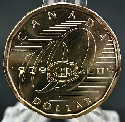 Canada 2009 $1 Montreal Canadiens Loonie Fresh from UNC roll